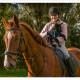 Duitse Herder, Zwarte Duitse Herder, pup, herderpup, Mogi Hondenfotografie, pup ontmoet paard