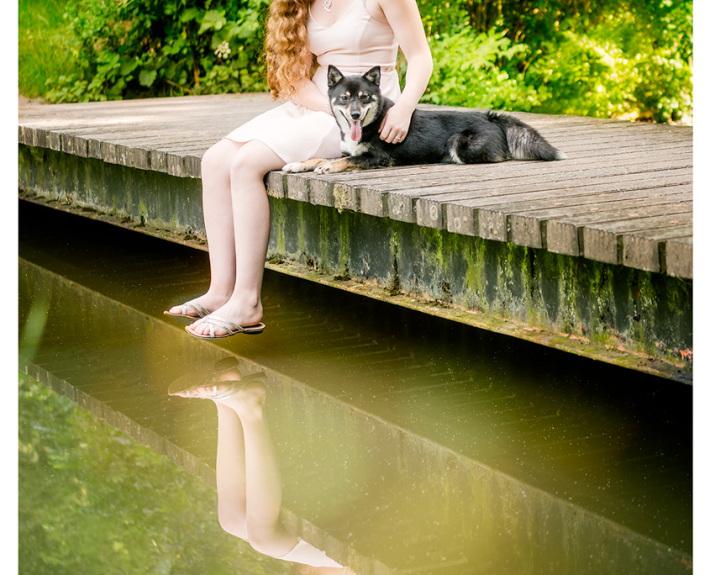 Xavi - Shiba Inu kruising door Mogi Hondenfotografie