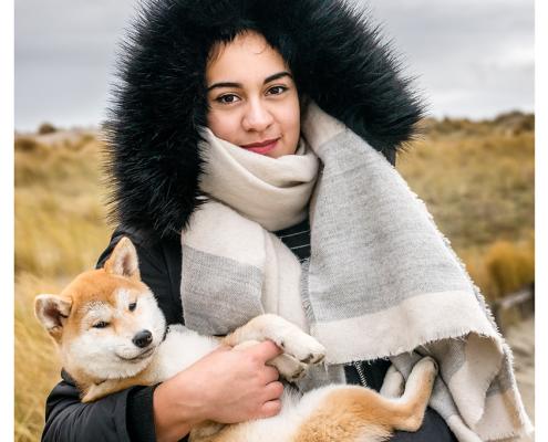 Fotoshoot voor halsbanden: Danielle en Sam Designer Dog